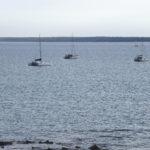 A short drive: Boats at Darwin Sailing Club